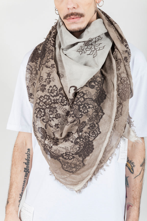 Brown decoration scarf