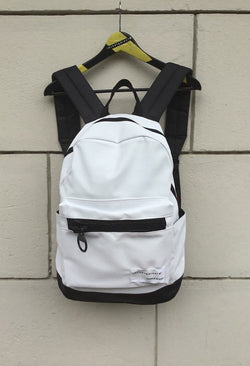 Big zip White Backpack - Natural Born Humans Store