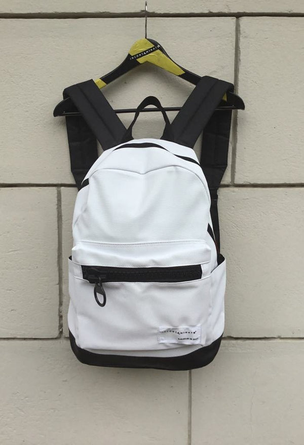 Big zip White Backpack