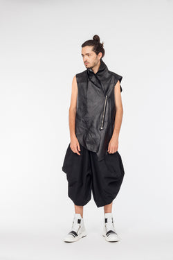 Conceptual Skin Leather vest - Natural Born Humans Store