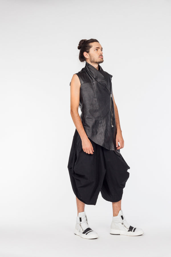 Conceptual Skin Leather vest