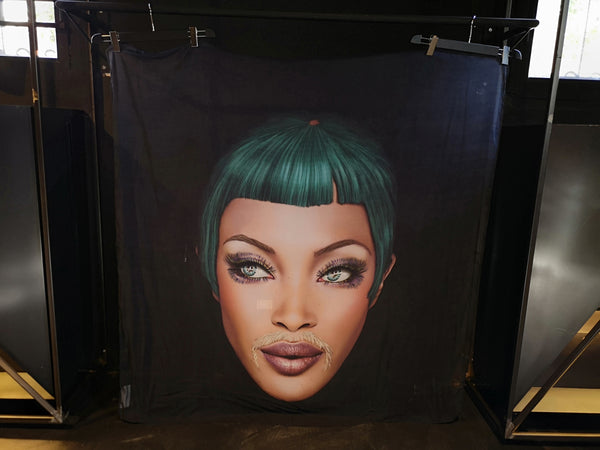 Naomi Campbell Scarf by Saul Zanolari in Pre-Order - Natural Born Humans Store