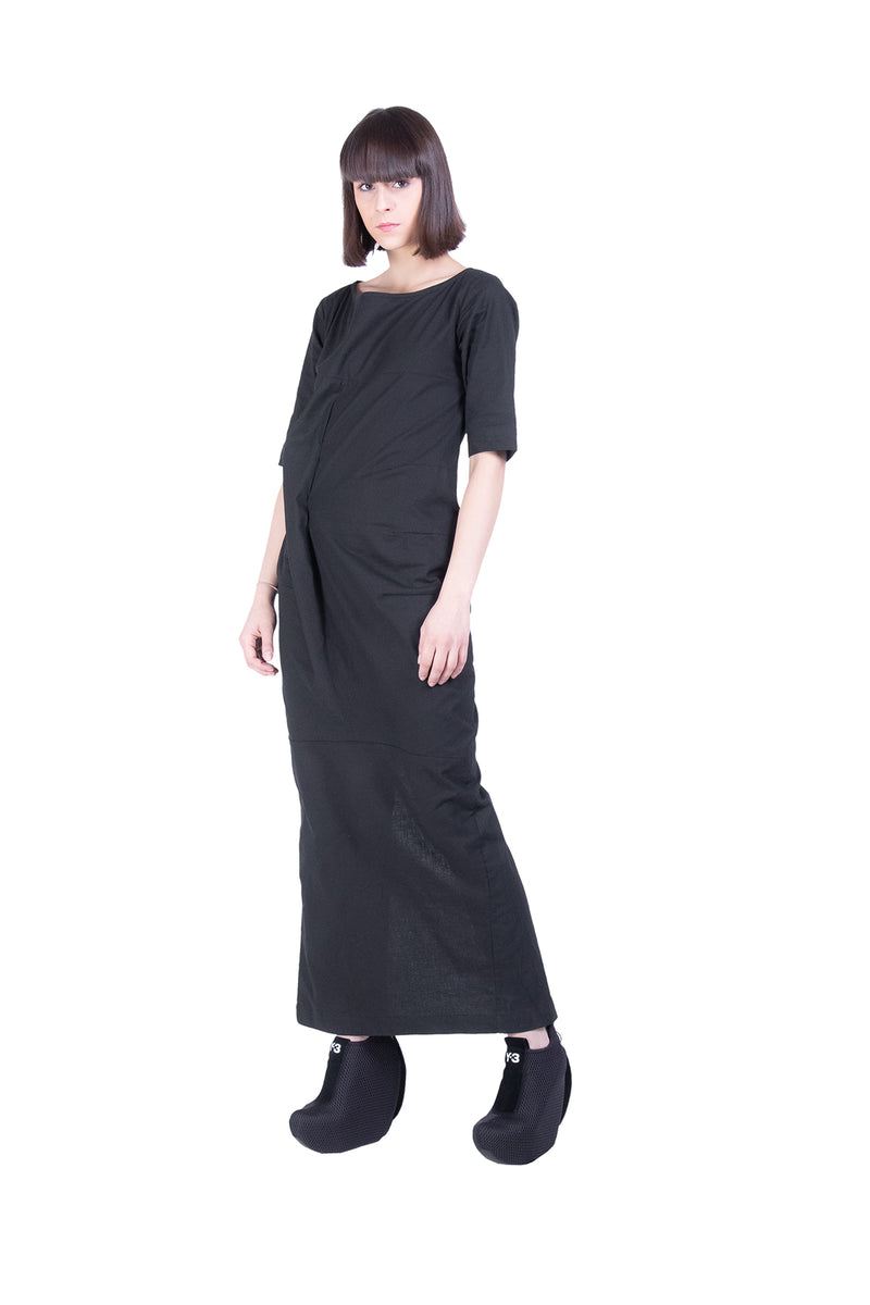 Short Sleeves Linen Tube Dress - Natural Born Humans Store