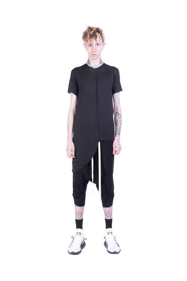 Short Sleeves Top With Vertical Seam