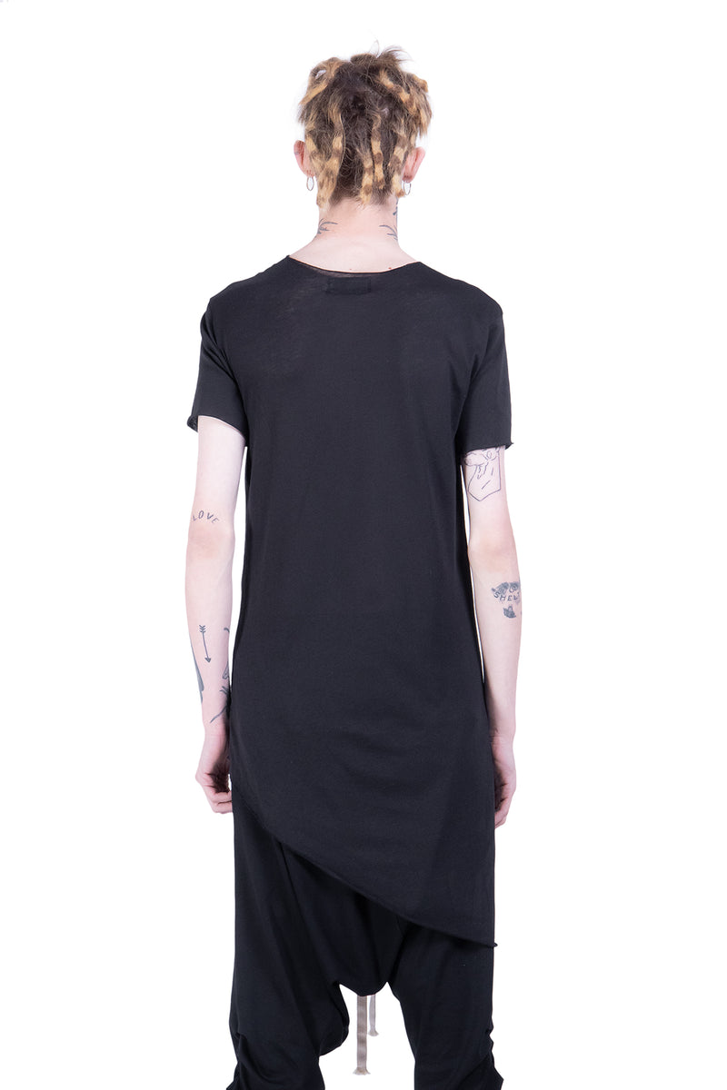 Short Sleeves Top With Vertical Seam - Natural Born Humans Store