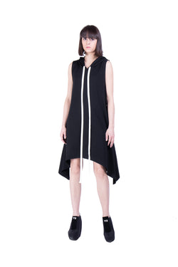 Hooded drawstrings baloon dress - Natural Born Humans Store