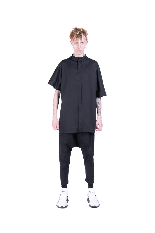 Korean Contemporary Black Shirt - Natural Born Humans Store