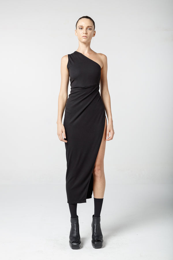 Asymmetrical sleeveless dress - Natural Born Humans Store