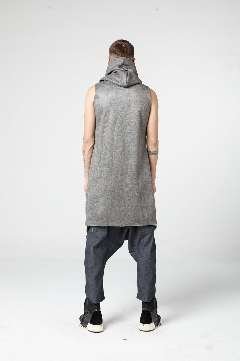 Sleeveless Zip Coat - Natural Born Humans Store