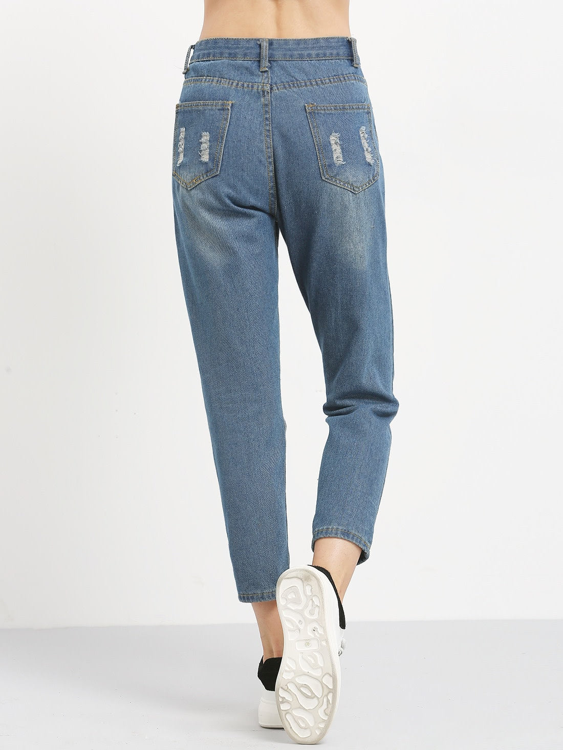 Distressed Ankle Jeans - spiffy-fashion-boutique