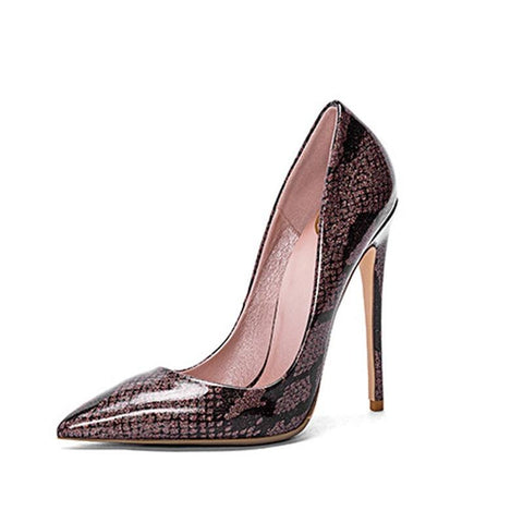 Snake  Pumps Pointed Toe Shoes