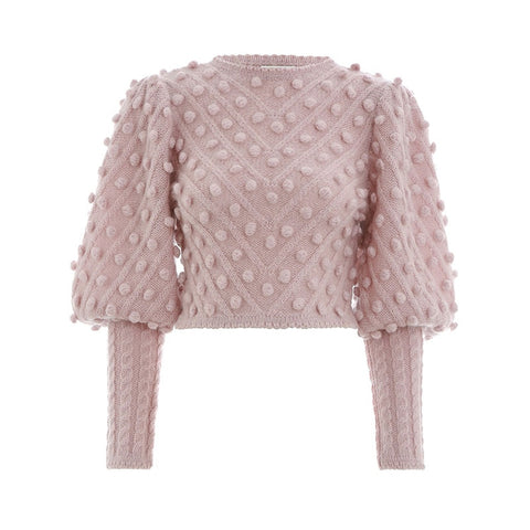 Casual Pink Pullovers Sweater