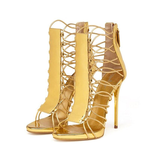Mustard Flame High Heel Sandal