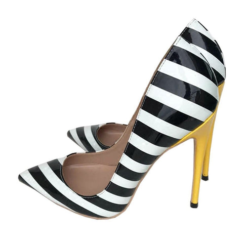 Zebra Black White Stripe Elegant Shoe
