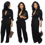 Solid Buttoned Pocket Cargo Jumpsuit S-3XL