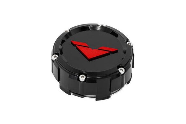 """V"" Center Cap Inlay Red (Set of 4)"