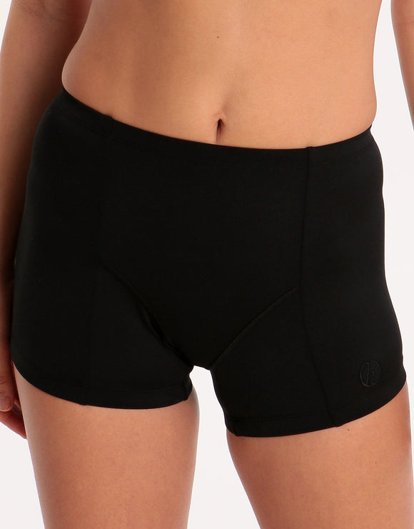Halocline Womens Sport Swim Shorts - Black