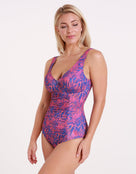 Womens Ava Longer Length Swimsuit - Radiant Dahlia