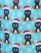 Halocline Girls Festive Penguins Sparkle Swimsuit