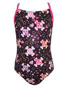 Girls Cute Skulls Sparkle Swimsuit