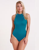 Sleek Zip Back Swimsuit - Pacific - Halocline Swimwear