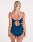 Stella Longer Length Clipback Swimsuit - Isola/Rose - Halocline Swimwear