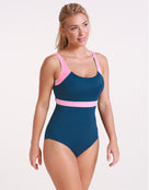 Halocline Stella Longer Length Clipback Swimsuit - Isola/Rose