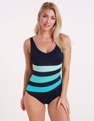 Halocline Iris Longer Length Swimsuit - Blue Ombre