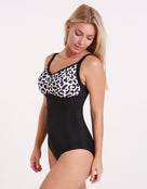 Halocline Nancy Longer Length Swimsuit - Leopard