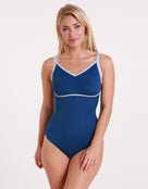 Womens Nancy Longer Length Swimsuit - Isola Blue