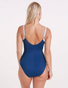 Nancy Longer Length Swimsuit - Isola Blue - Halocline Swimwear