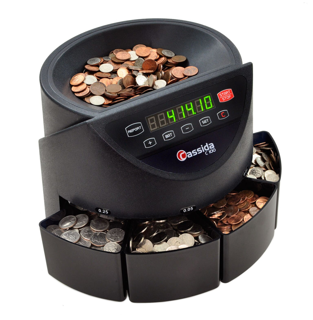 Coin Counter - Cassida C100 Electronic Coin Counter & Sorter
