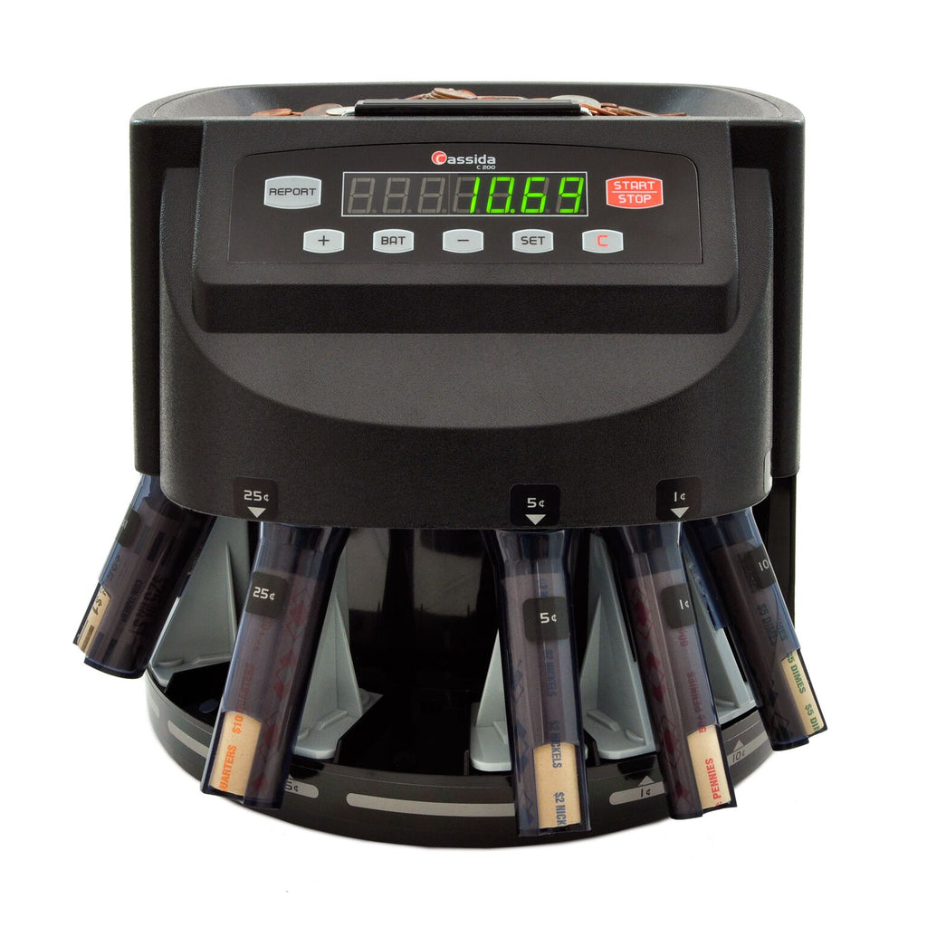 Coin Counter - Cassida C200 Business-Grade Electronic Coin Sorter, Counter & Roller