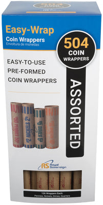 Accessories - Royal Sovereign Preformed Coin Wrappers 504 Assortment Pack FSW-504A