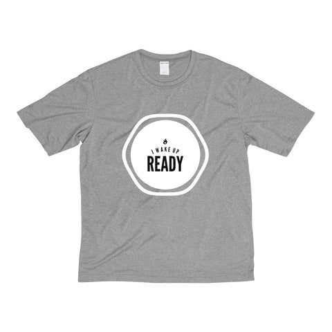 I Wake Up Ready Men's Heather Dri-Fit Tee