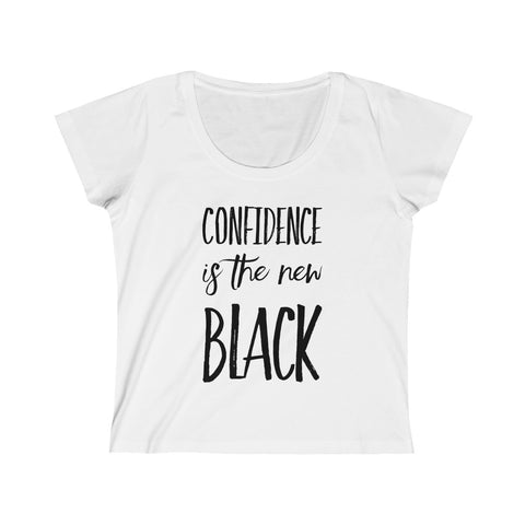 Confidence is the New Black Women's Scoop Neck Tee