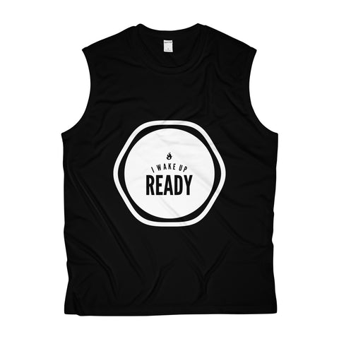 I Wake Up Ready Men's Sleeveless Performance Tee