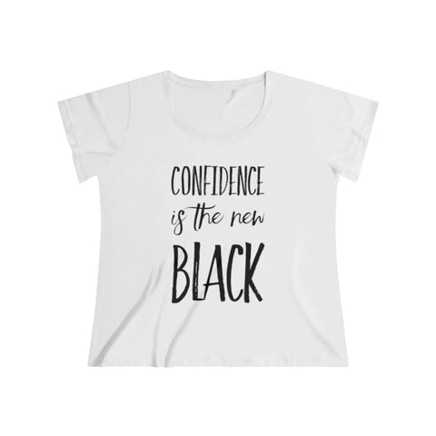 Confidence is the New Black Women's Curvy Tee