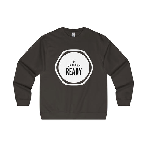 I Wake Up Ready Men's Midweight Crewneck Sweatshirt