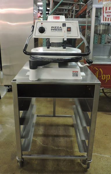 "Proluxe / Dough Pro DP1100 18"" Manual Pizza Dough Press W/ Stand"