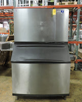 Manitowoc SY1805W & B970 Water Cooled 1/2 Cube Ice Machine & Storage Bin