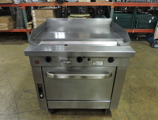 Southbend P36A-TTT Commercial Thermostatic Griddle Top Range w/ Convection-Oven