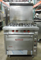 Vulcan GH45C Commercial 4 Open Burner Heavy Duty Gas Range w/ Convection Oven