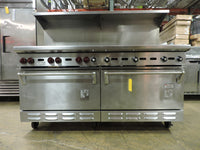 Wolf C68D-1251 Commercial 6-Burner and Griddle Top Range with 2 Standard Ovens