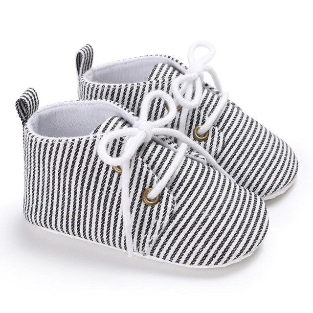 Anti-Slip, Soft-Soled, Lace Up Baby Shoes