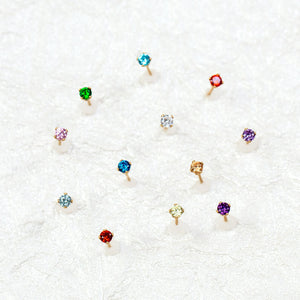 July Birthstone Stud Earrings