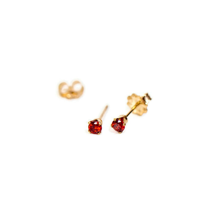 January Birthstone Stud Earrings