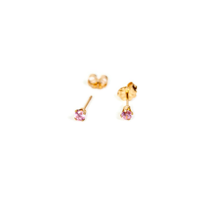 October Birthstone Stud Earrings