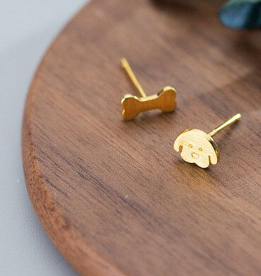 Dog and Bone Earrings