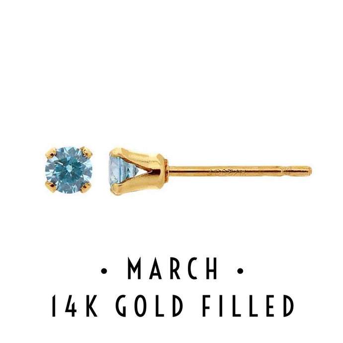 March Birthstone Earrings